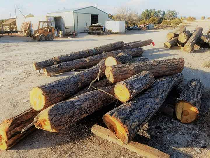 how to hand peel logs for log furniture