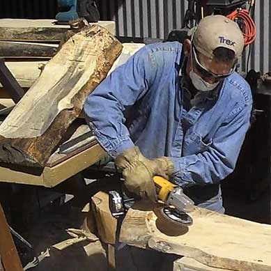 how to use your angle grinder on wood