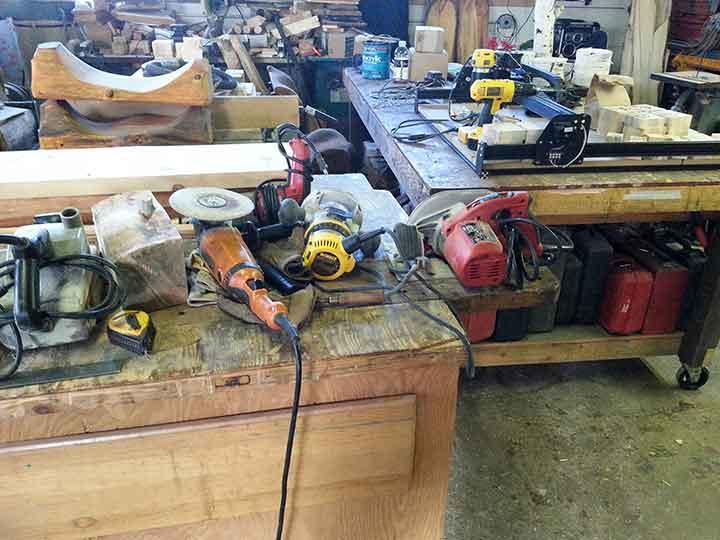 basic tools for log furniturte
