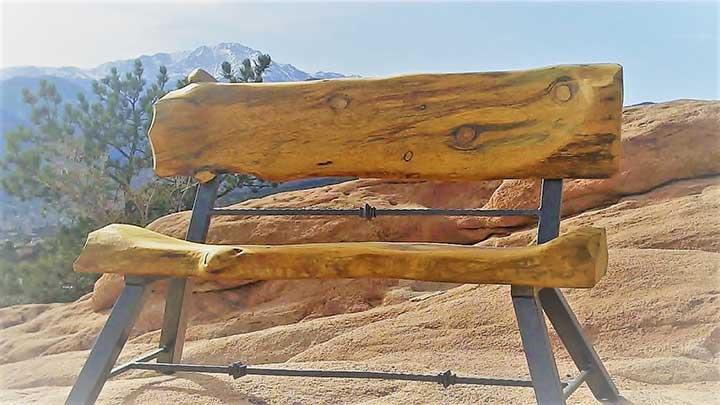 Colorado Rock-n-Log Bench