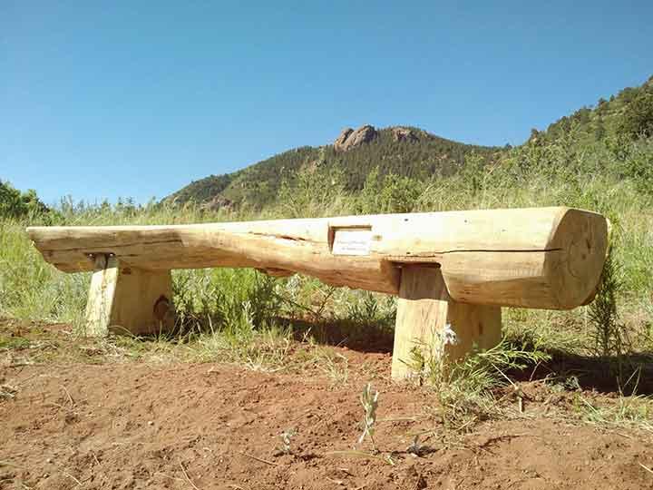 Link to log park bench blueprint