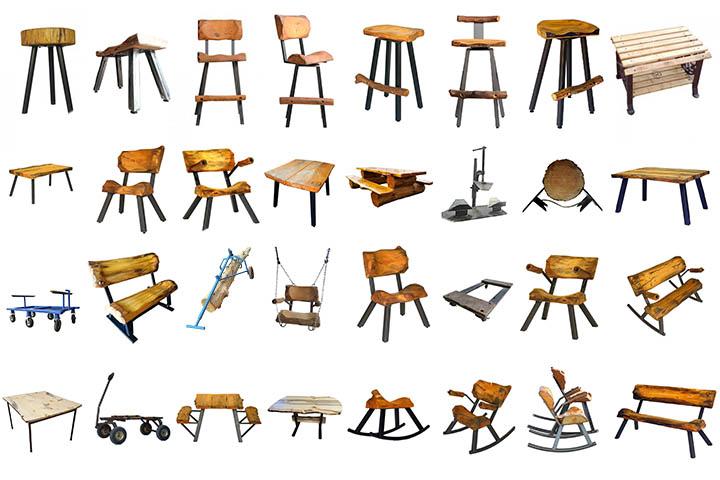 log furniture blueprints