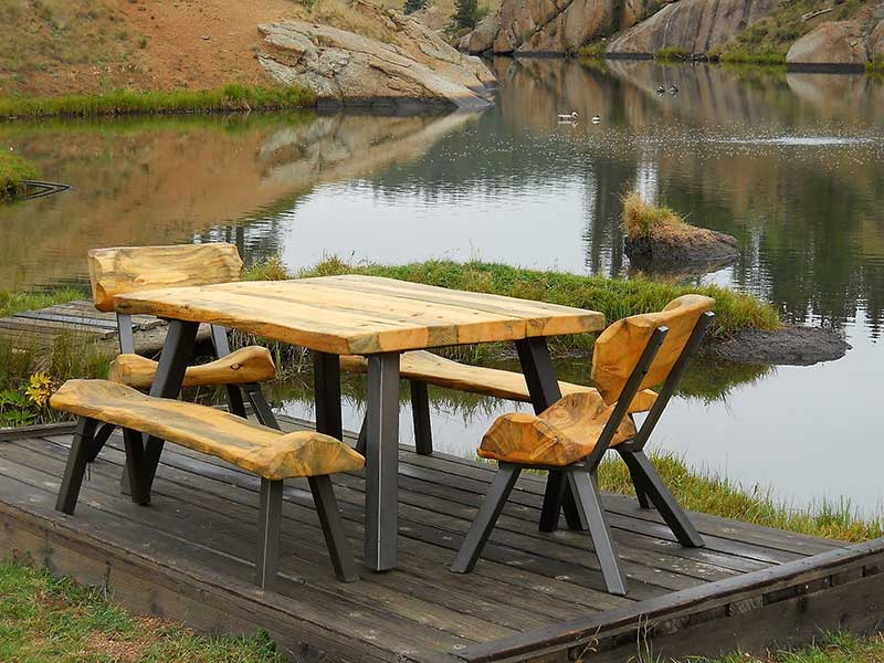 What is log furniture?