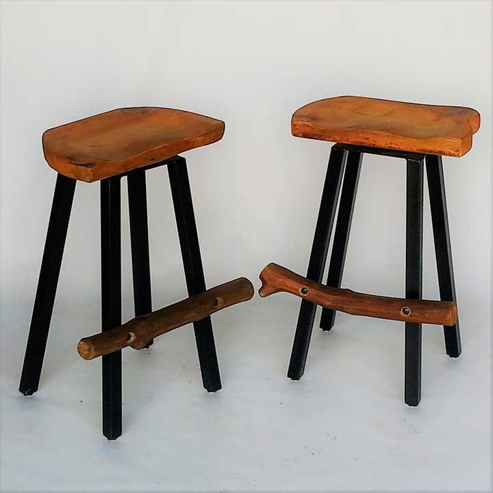 link to log bar stools