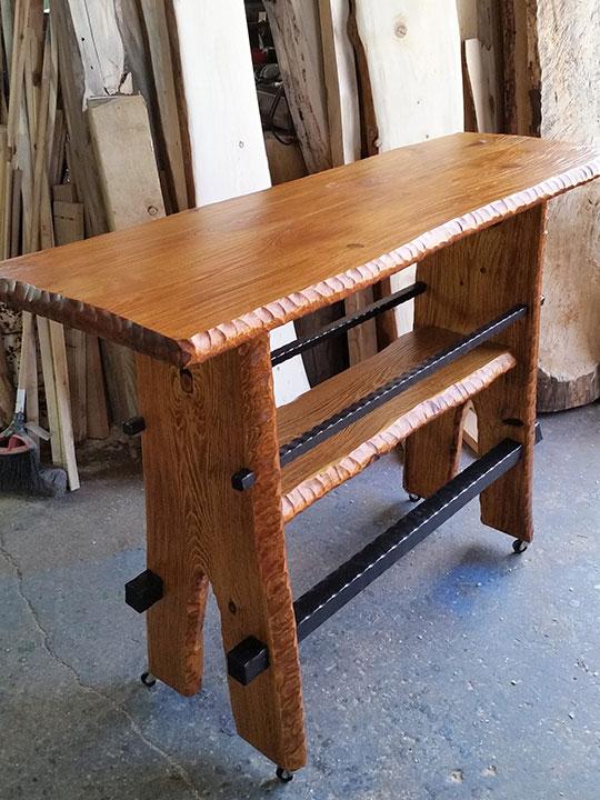 make modern rustic pub tables
