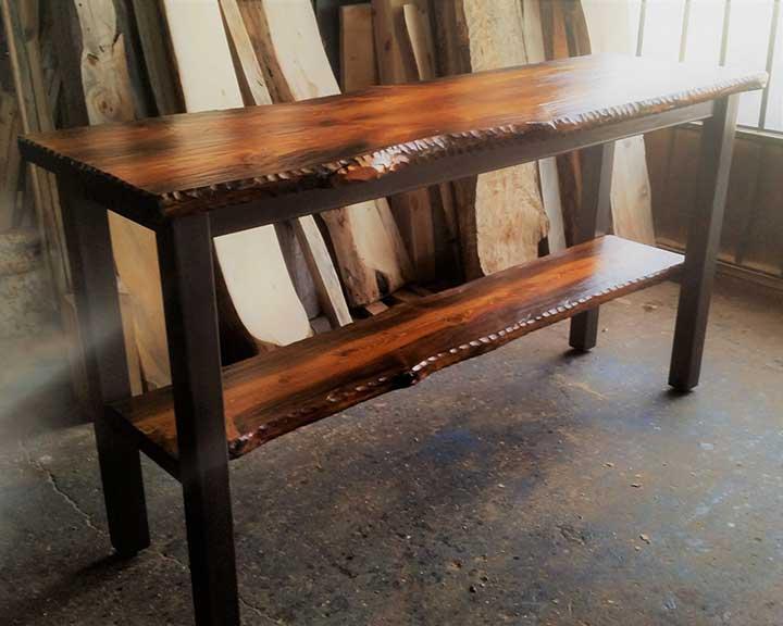 modern rustic pub table