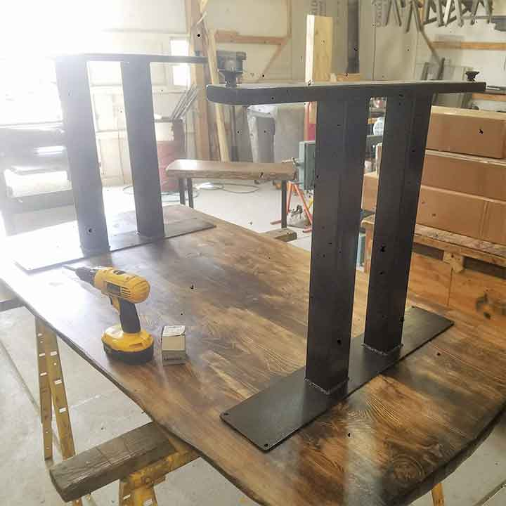 make modern rustic dining tables
