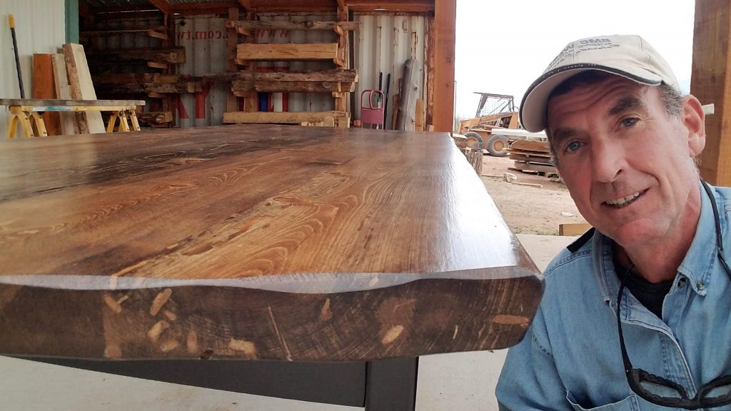 make modern-rustic dining tables