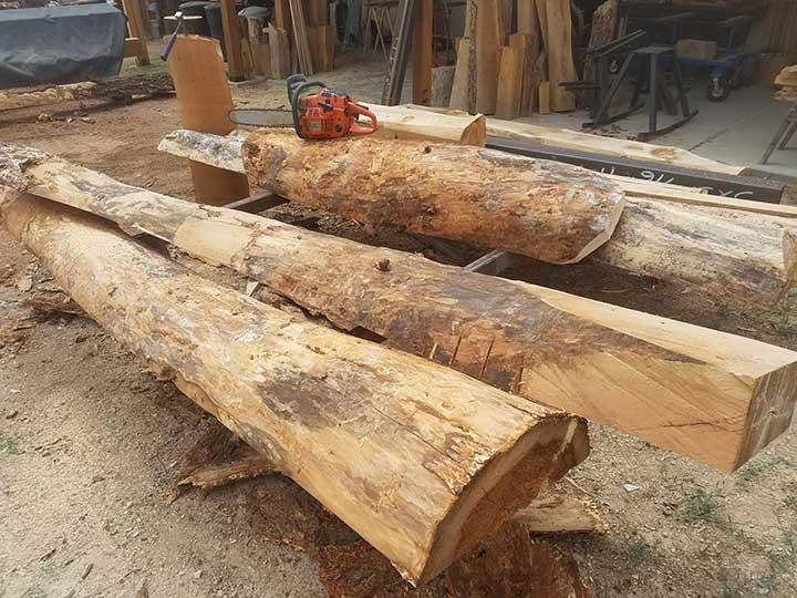 Peeled Logs