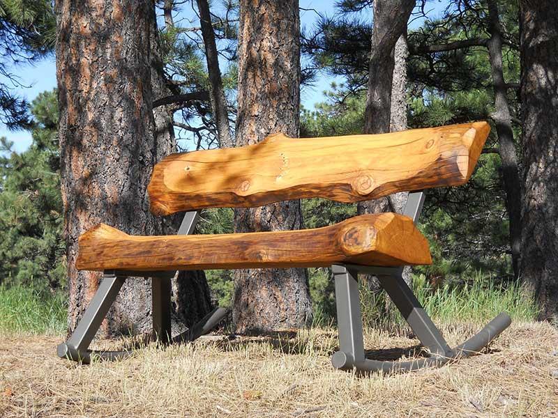 Log Rocking Bench