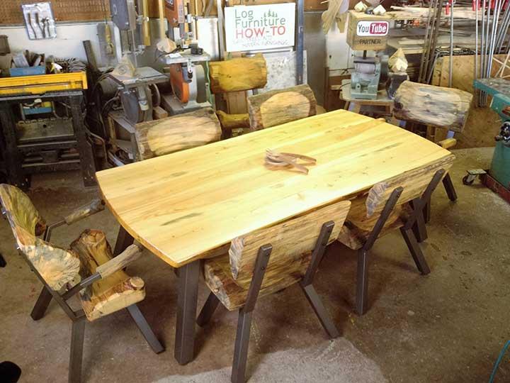 Log Dining Set