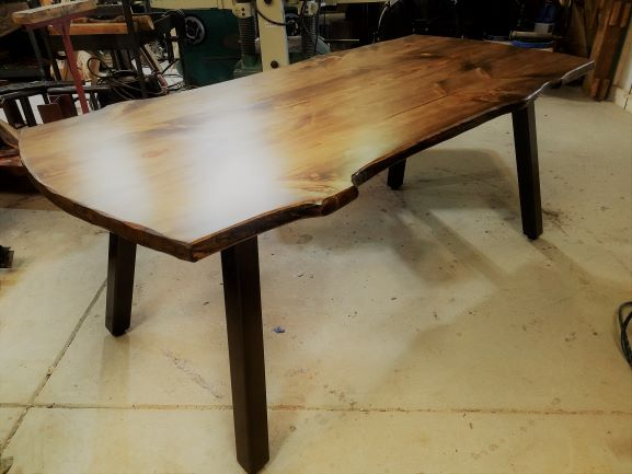 flared leg table